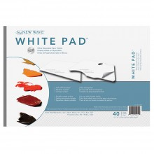 New Wave : White Pad Disposable Paper Palette : Rectangular