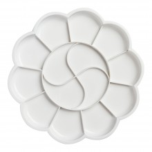 Studio Essentials : Daisy Plastic Palette : 20cm Diameter : 14 Well