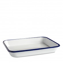 Studio Essentials : Enamel Butcher Tray : 3.5x18x24cm