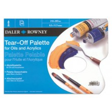 Daler Rowney : Tear Off Palette : For Acrylic and Oil : 40 Sheets : A4 : Blue