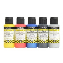 Vallejo : Premium Airbrush Paint : Set of 5 : Metallic Colours