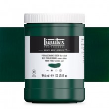 Liquitex : Professional : Heavy Body Acrylic Paint : 946ml : Phthalocyanine Green Blue Shade