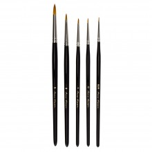 Rosemary & Co : Anna Mason : Synthetic Watercolour Brush : Set of 5