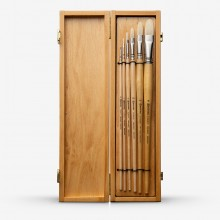 Escoda : Clasico : Hog : Set of 6 in Wooden Box