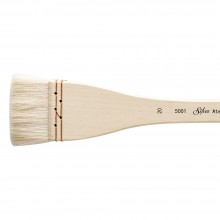 Silver Brush : Atelier Hake : Long Handle : Flat : Size 20 : 45mm Wide