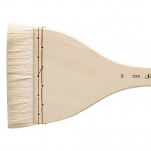 Silver Brush : Atelier Hake : Long Handle : Flat : Size 60 : 105mm Wide