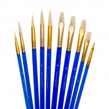 Royal & Langnickel : Acrylic & Oil White Bristle Value Brush Pack