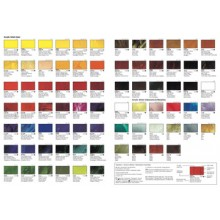 Vallejo : Artist Acrylic : Hand Painted Colour Chart