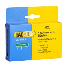 Tacwise : 140 Staples : 6mm : Box of 2000