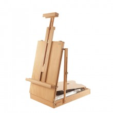 Mabef : M24 Sicillian Table Box Easel : Beechwood : 18x12x4in : Max Canvas Height 30in