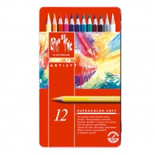 Caran d'Ache : Supracolor Soft : Watersoluble Pencil : Metal Tin Set of 12