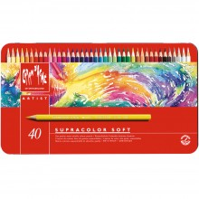 Caran d'Ache : Supracolor Soft : Watersoluble Pencil : Metal Tin Set of 40