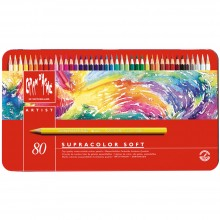 Caran d'Ache : Supracolor Soft : Watersoluble Pencil : Metal Tin Set of 80
