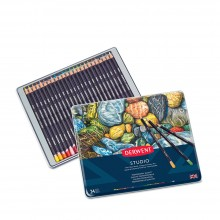 Derwent : Studio Pencil : Metal Tin Set of 24