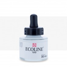 Royal Talens : Ecoline : Liquid Watercolour Ink : 30ml : White