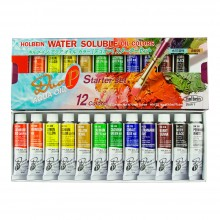 Holbein : Duo Aqua : Watermixable Oil Paint : 10ml : Set of 12