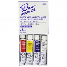 Holbein : Duo Aqua : Watermixable Oil Paint : 20ml : Set of 4