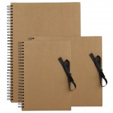 Seawhite : Brown Paper Display Books : Spiral Pads : 40 Sheets