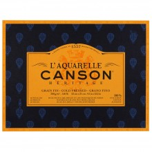 Canson : Heritage : Watercolour Paper Block : 300gsm : 23x31cm : 20 Sheets : Cold Pressed