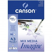 Canson : Imagine Multimedia Pad : 200gsm : 50 Sheets : A3