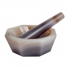 Handover : Genuine Agate Pestle and Mortar : 110 mm