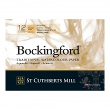 Bockingford : Glued Pad : 5x7in : 300gsm : 12 Sheets : Rough