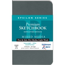 Stillman & Birn : Epsilon Softcover Sketchbook : 150gsm : Smooth : 3.5x5.5in (9x14cm) : Portrait