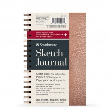 Strathmore : 200 Series : Metallic Sketch Journal : Hammered Copper : 74gsm : 80 Sheets : 5.5x8.5in