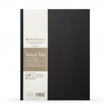 Strathmore : 400 Series : Hardbound Toned Tan Sketchbook : 118gsm : 128 Pages : 8.5x11in