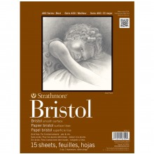 Strathmore : 400 Series : Bristol Paper : Pad : 9x12in : 15 Sheets : 2Ply Smooth