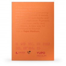 Yupo : Medium Watercolour Paper Pad : 74lb (200gsm) : 5x7in : 10 Sheets : White