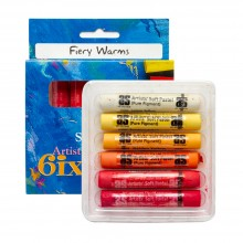 Art Spectrum : Soft Pastel : Set of 6 : Fiery Warms