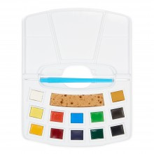 Royal Talens : Art Creation : Watercolour Paint : Half Pan : Pocketbox Set of 12