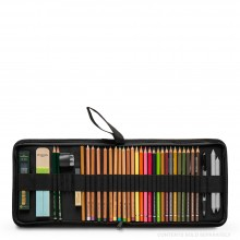 Jackson's : Hard Pencil Folio : Holds 33 Pencils : Black