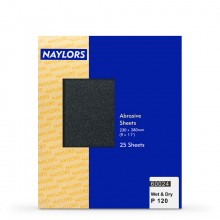 Naylor : 25 Sheets Wet & Dry Grade : 120