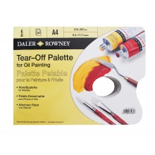 Daler Rowney : Yellow Parchment Tear Off Palettes - For Oil