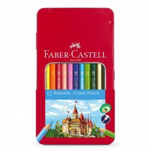 Faber Castell : Colour Pencils : Tin of 12