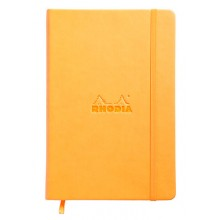 Rhodia : Webnotebook Unlined Ivory Pad : Orange Cover : 96 Sheets : A5