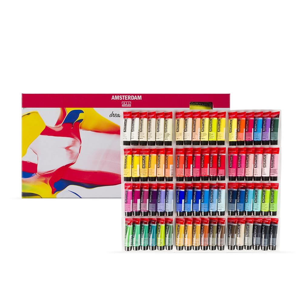 Royal Talens : Amsterdam Standard : Acrylic Paint : 20ml : General Selection Set of 72