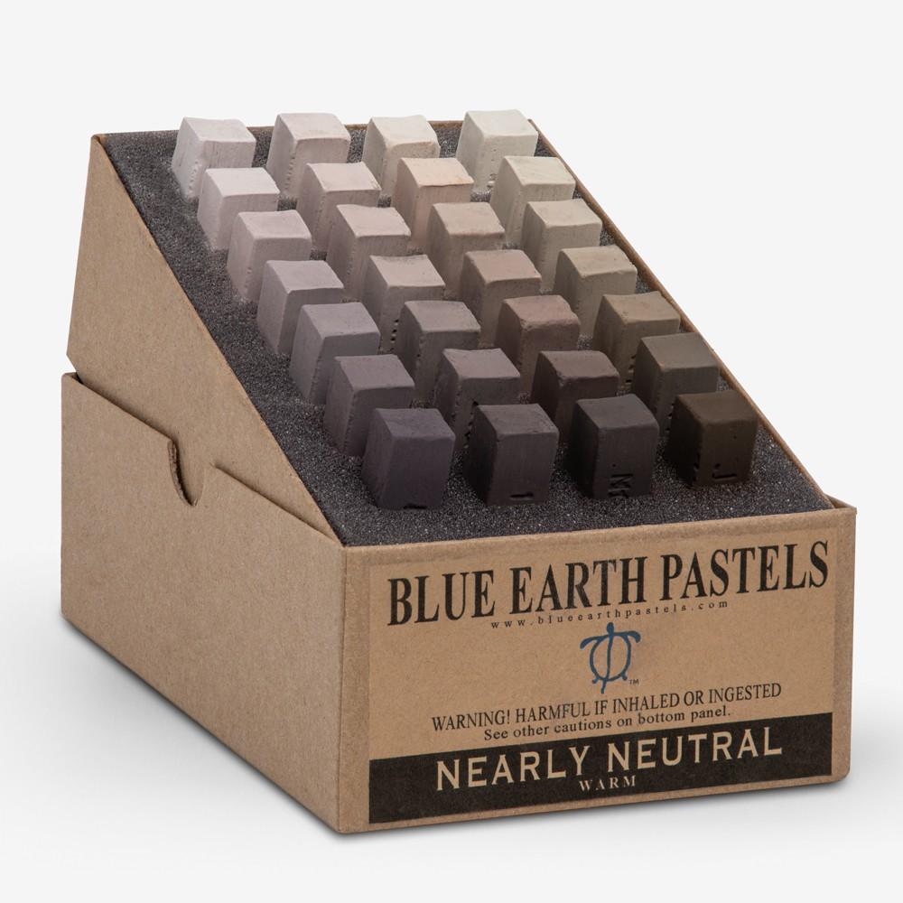Blue Earth : Soft Pastel : 28 Stick Box Set : Nearly Neutral Warm