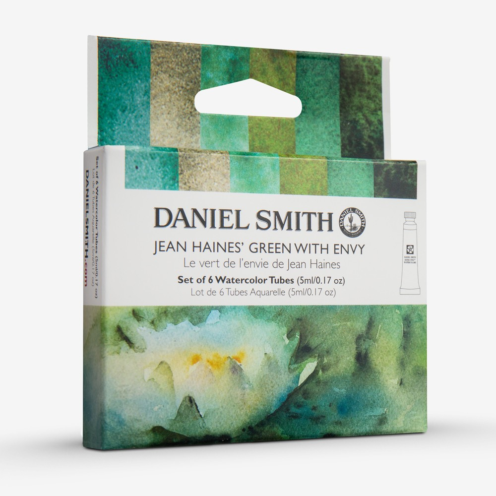 Daniel Smith : Watercolour Paint : 5ml : Jean Haines' Green With Envy Set of 6