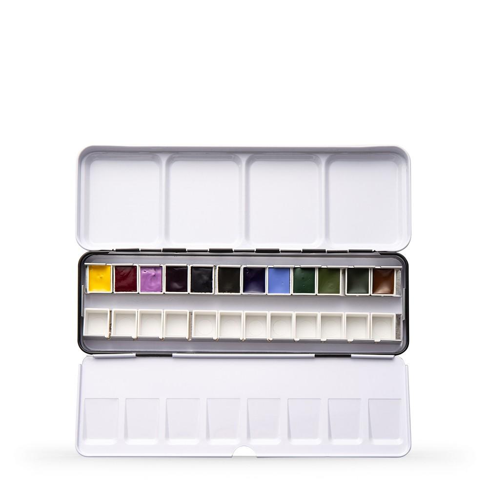 Daniel Smith : Watercolour Paint : Half Pan : Inspirations Metal Box Set of 12