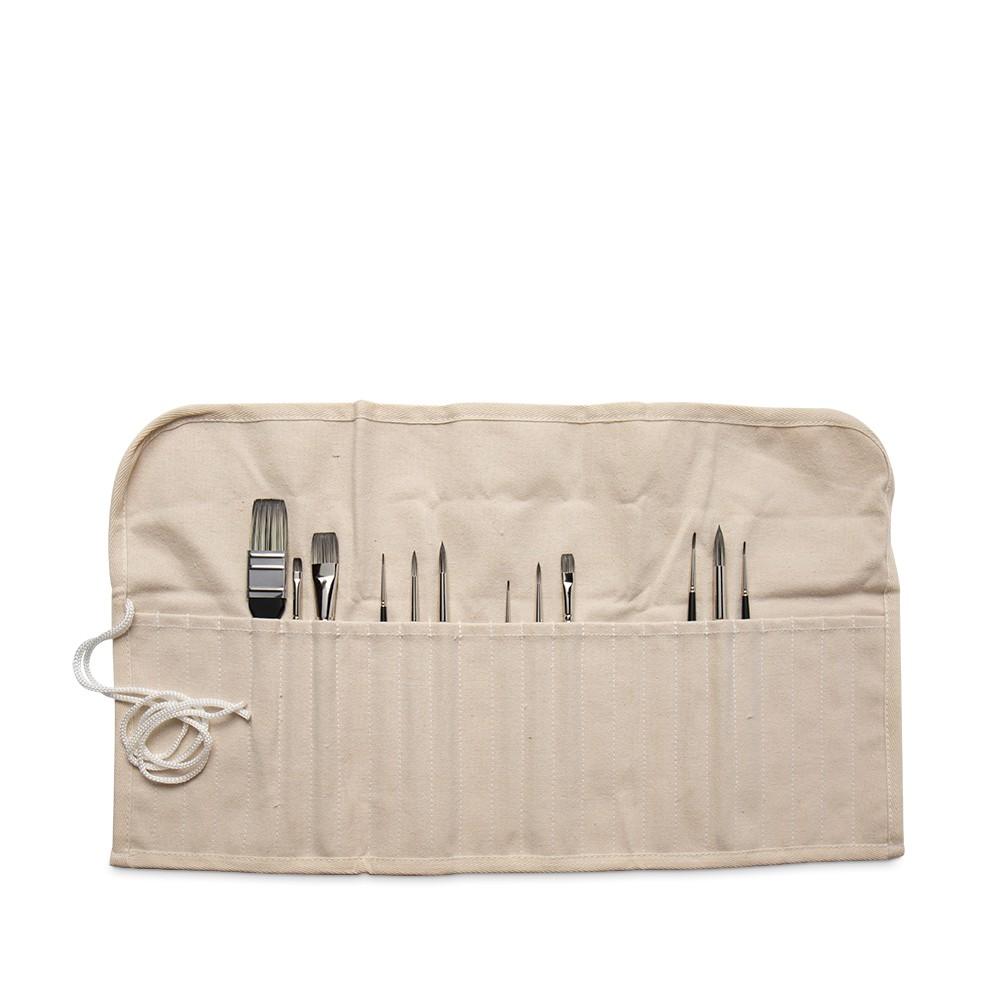Studio Essentials : 7oz Canvas Brush Roll : 22.5x12in