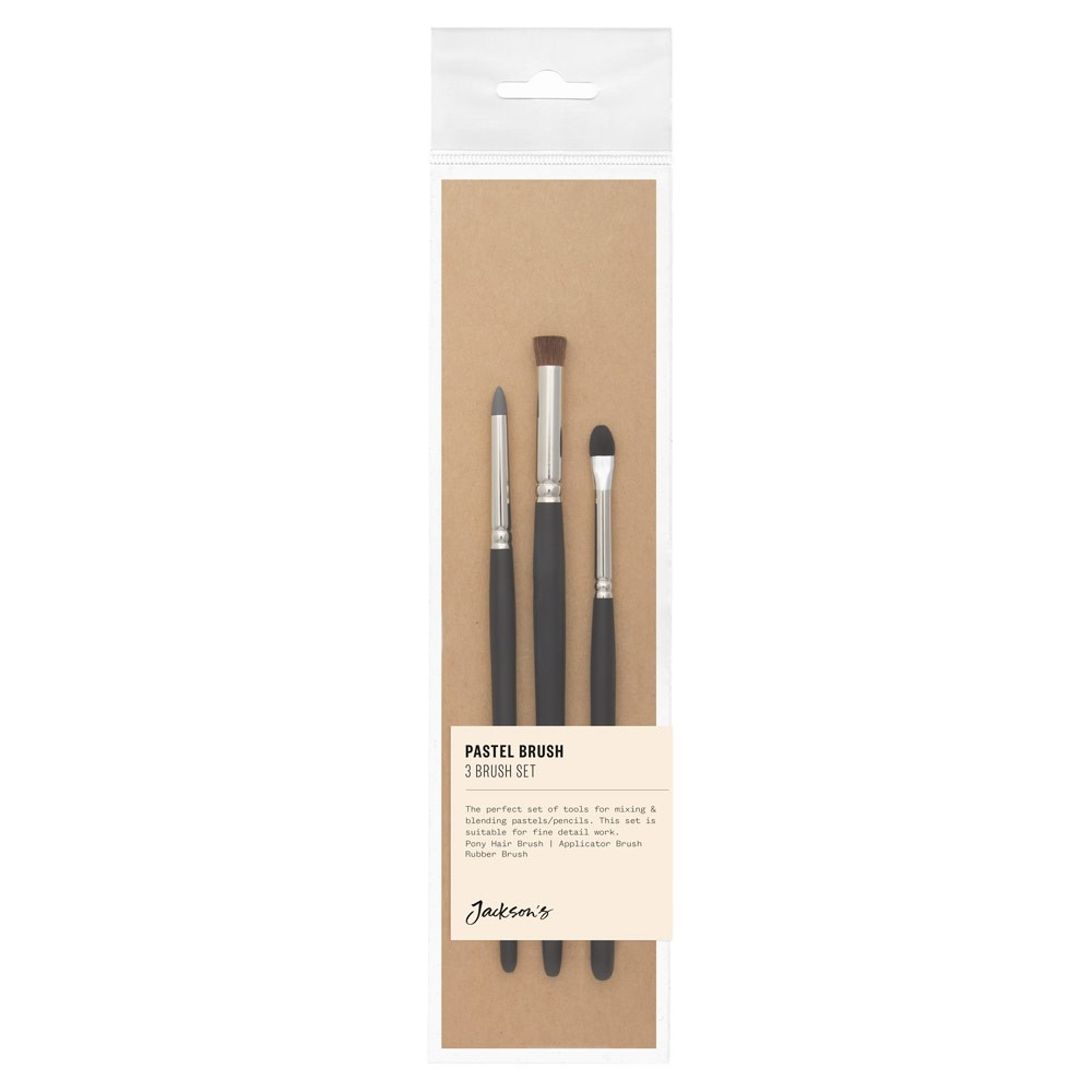 Jackson's : Pastel Brush : Set of 3 : Contains Blender Brush and Silicone Tool