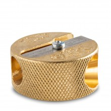 Jakar : Brass Double Hole Pencil Sharpener : Round Shape