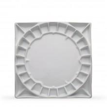 Stephen Quiller : Porcelain Palette : 13x13in