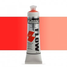 Derivan : Matisse Flow : Acrylic Paint : 75ml : Permanent Orange