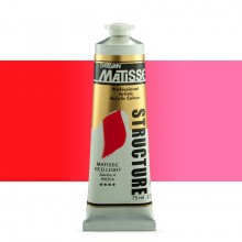 Derivan : Matisse Structure : Acrylic Paint : 75ml : Matisse Red Light