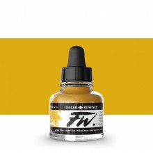 Daler Rowney : FW Artists' Ink : 29.5ml : Yellow Ochre
