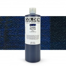 Golden : Fluid : Acrylic Paint : 473ml (16oz) : Prussian Blue (Hue)